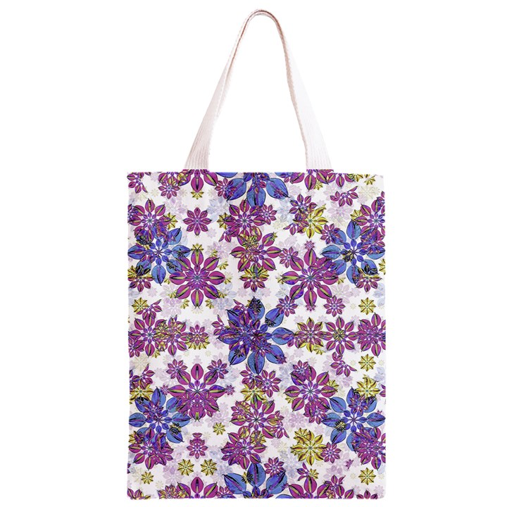 Stylized Floral Ornate Pattern Classic Light Tote Bag