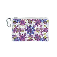 Stylized Floral Ornate Pattern Canvas Cosmetic Bag (s)