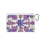 Stylized Floral Ornate Pattern Canvas Cosmetic Bag (S) Back