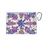 Stylized Floral Ornate Pattern Canvas Cosmetic Bag (M) Back