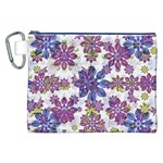 Stylized Floral Ornate Pattern Canvas Cosmetic Bag (XXL) Front