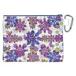Stylized Floral Ornate Pattern Canvas Cosmetic Bag (XXL) Back