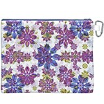 Stylized Floral Ornate Pattern Canvas Cosmetic Bag (XXXL) Back