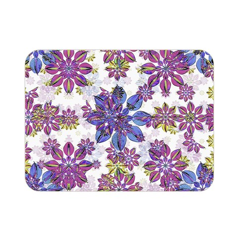 Stylized Floral Ornate Pattern Double Sided Flano Blanket (Mini)