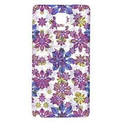 Stylized Floral Ornate Pattern Galaxy Note 4 Back Case