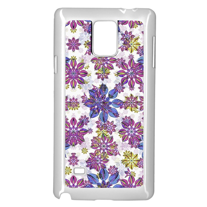 Stylized Floral Ornate Pattern Samsung Galaxy Note 4 Case (White)