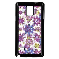 Stylized Floral Ornate Pattern Samsung Galaxy Note 4 Case (Black)