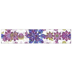 Stylized Floral Ornate Pattern Flano Scarf (Small)