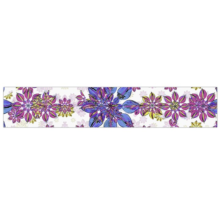 Stylized Floral Ornate Pattern Flano Scarf (Large)