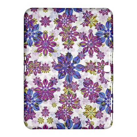 Stylized Floral Ornate Pattern Samsung Galaxy Tab 4 (10.1 ) Hardshell Case