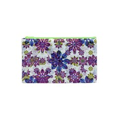 Stylized Floral Ornate Pattern Cosmetic Bag (XS)