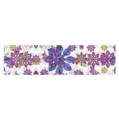Stylized Floral Ornate Pattern Satin Scarf (Oblong)
