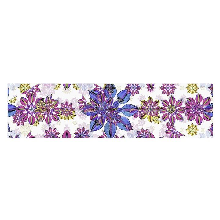 Stylized Floral Ornate Pattern Satin Scarf (Oblong)