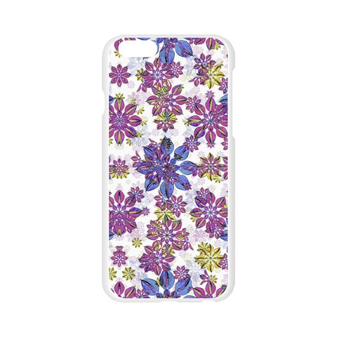 Stylized Floral Ornate Pattern Apple Seamless iPhone 6/6S Case (Transparent)