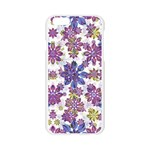 Stylized Floral Ornate Pattern Apple Seamless iPhone 6/6S Case (Transparent) Front