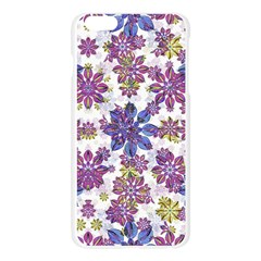 Stylized Floral Ornate Pattern Apple Seamless iPhone 6 Plus/6S Plus Case (Transparent)
