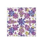 Stylized Floral Ornate Satin Bandana Scarf Front