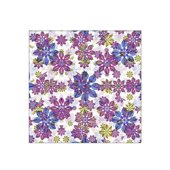 Stylized Floral Ornate Satin Bandana Scarf