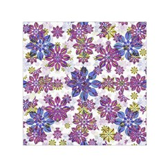Stylized Floral Ornate Small Satin Scarf (square)