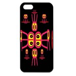 Alphabet Shirt R N R Apple iPhone 5 Seamless Case (Black) Front