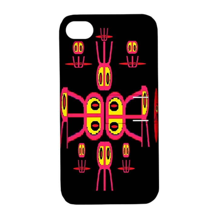Alphabet Shirt R N R Apple iPhone 4/4S Hardshell Case with Stand