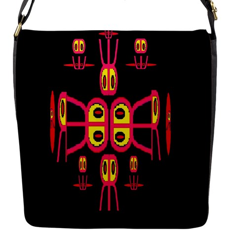 Alphabet Shirt R N R Flap Messenger Bag (S)