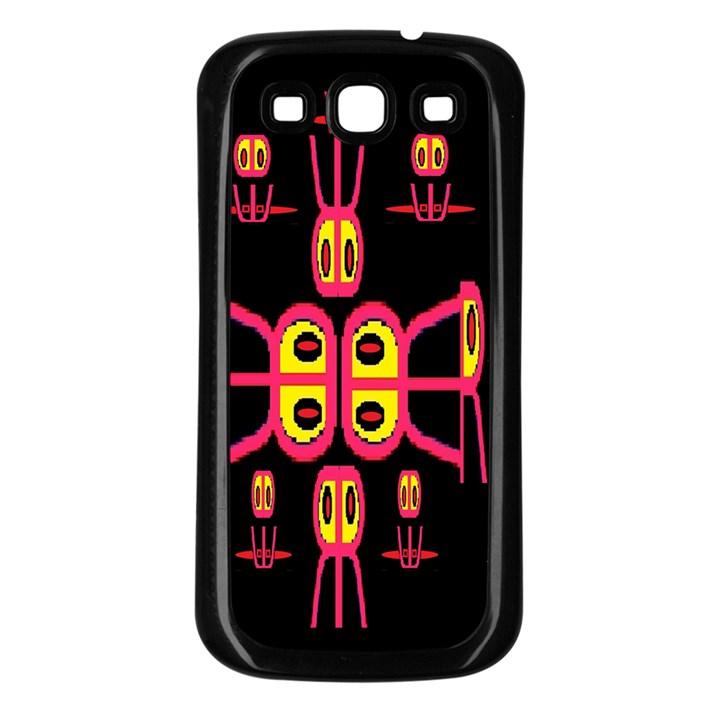 Alphabet Shirt R N R Samsung Galaxy S3 Back Case (Black)