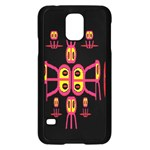 Alphabet Shirt R N R Samsung Galaxy S5 Case (Black) Front