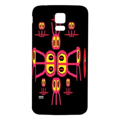 Alphabet Shirt R N R Samsung Galaxy S5 Back Case (White)