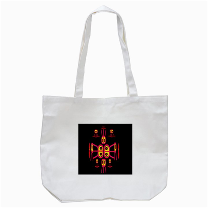 Alphabet Shirt R N R Tote Bag (White)