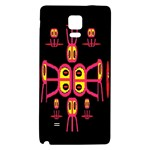 Alphabet Shirt R N R Galaxy Note 4 Back Case Front