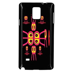 Alphabet Shirt R N R Samsung Galaxy Note 4 Case (Black)