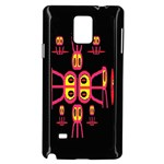 Alphabet Shirt R N R Samsung Galaxy Note 4 Case (Black) Front