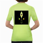 FLOWER OF LIFE TWO Women s Green T-Shirt Back