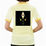 FLOWER OF LIFE TWO Women s Fitted Ringer T-Shirts Back