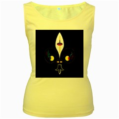 FLOWER OF LIFE TWO Women s Yellow Tank Top