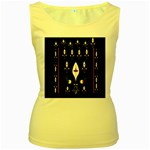 Clothing (25)gee8dvdynk,k;; Women s Yellow Tank Top Front
