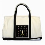 Clothing (25)gee8dvdynk,k;; Two Tone Tote Bag Front