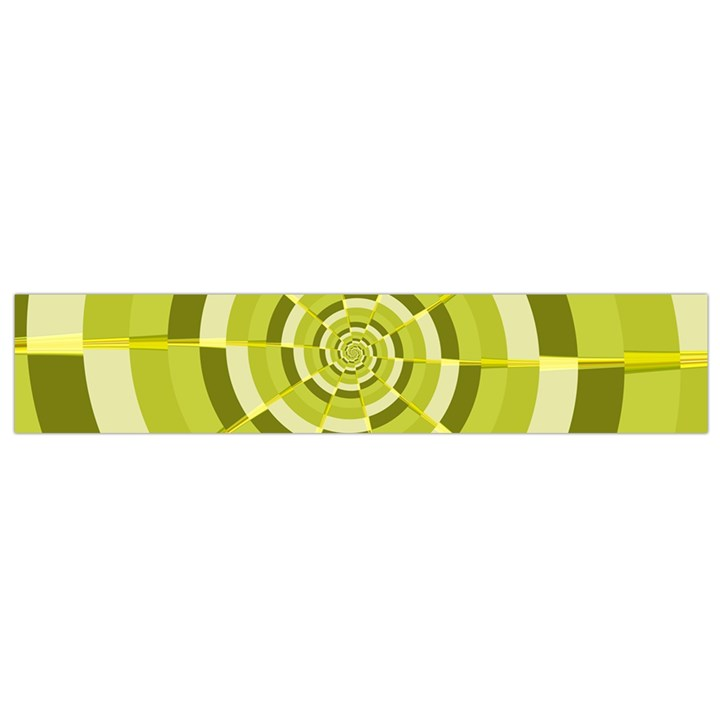 Crazy Dart Green Gold Spiral Flano Scarf (Small)