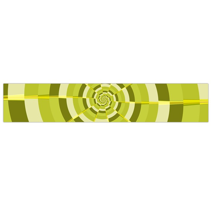 Crazy Dart Green Gold Spiral Flano Scarf (Large)