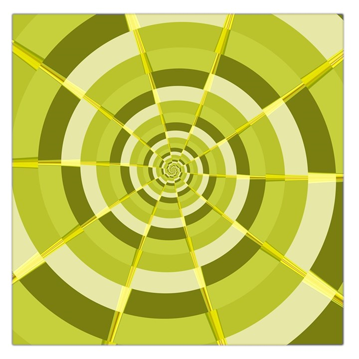 Crazy Dart Green Gold Spiral Large Satin Scarf (Square)