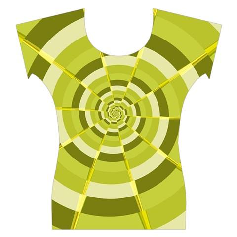 Crazy Dart Green Gold Spiral Women s Cap Sleeve Top