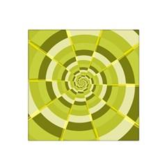 Crazy Dart Green Gold Spiral Satin Bandana Scarf