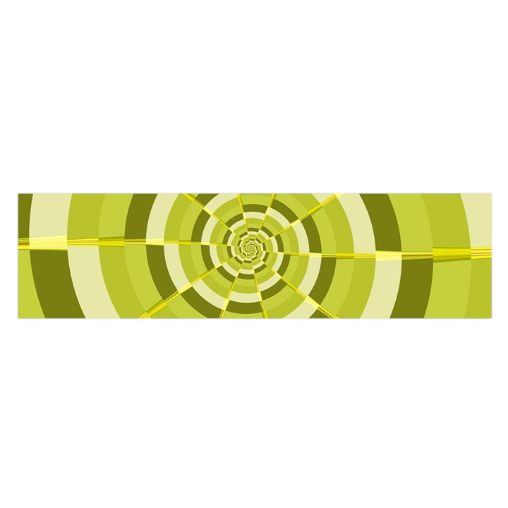 Crazy Dart Green Gold Spiral Satin Scarf (Oblong)
