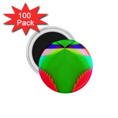 Colorful Abstract Butterfly With Flower  1.75  Magnets (100 pack)