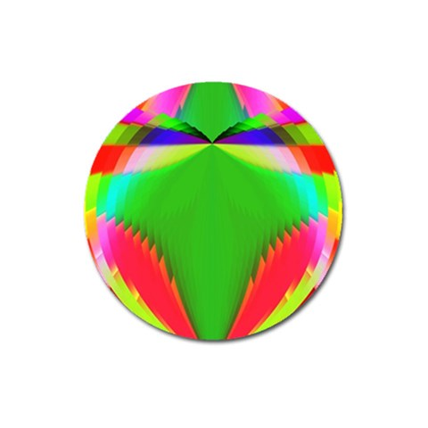 Colorful Abstract Butterfly With Flower  Magnet 3  (Round)