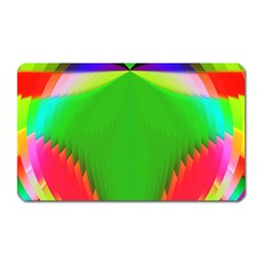Colorful Abstract Butterfly With Flower  Magnet (Rectangular)