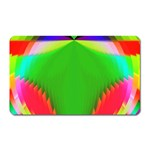 Colorful Abstract Butterfly With Flower  Magnet (Rectangular) Front