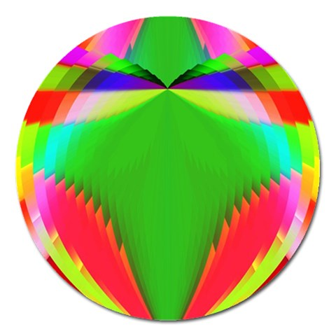 Colorful Abstract Butterfly With Flower  Magnet 5  (Round)