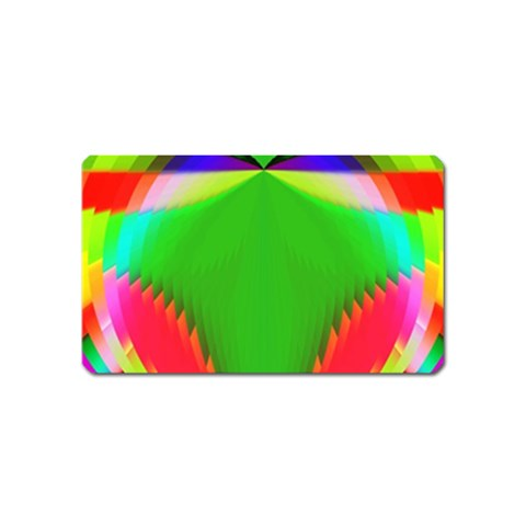 Colorful Abstract Butterfly With Flower  Magnet (Name Card)